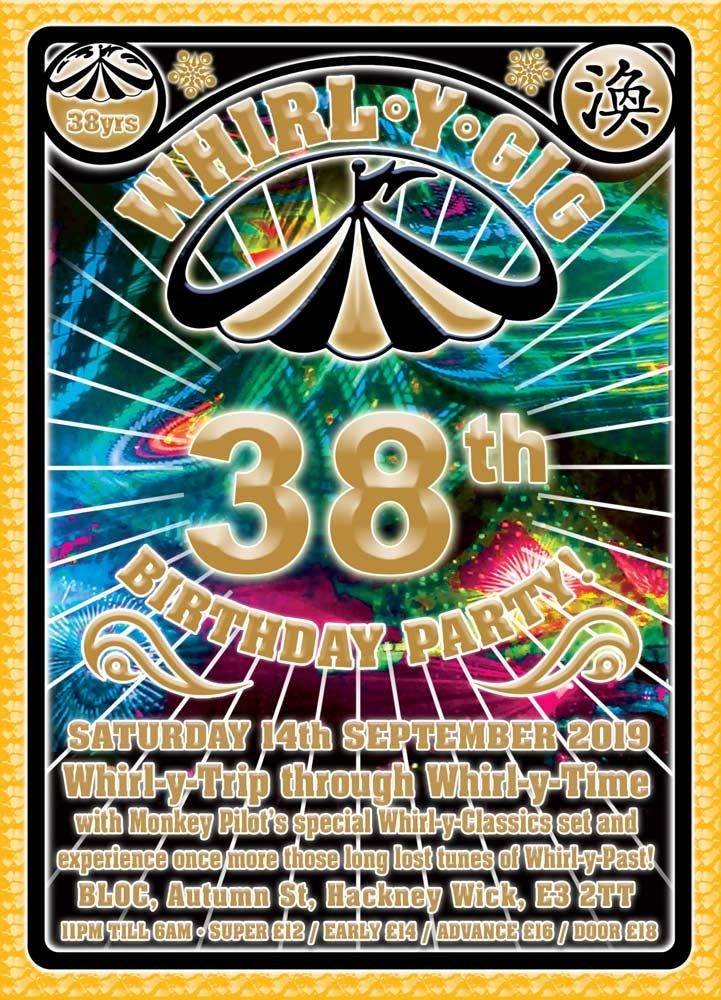 Whrl-Y-Gig 38th Birthday Party