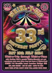 Whirl-Y-Birthday Flyer